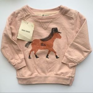 Bobo Choses Mr. Smith Horse sweatshirt